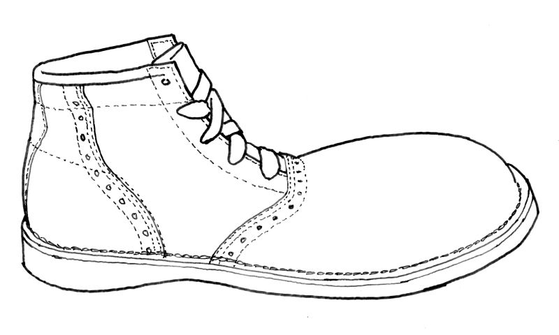 Spears specialty shoes clown theatrical shoes saddle shoe this link will open a printer friendly version of this drawing without notes or shading in a separate window maxwellsz